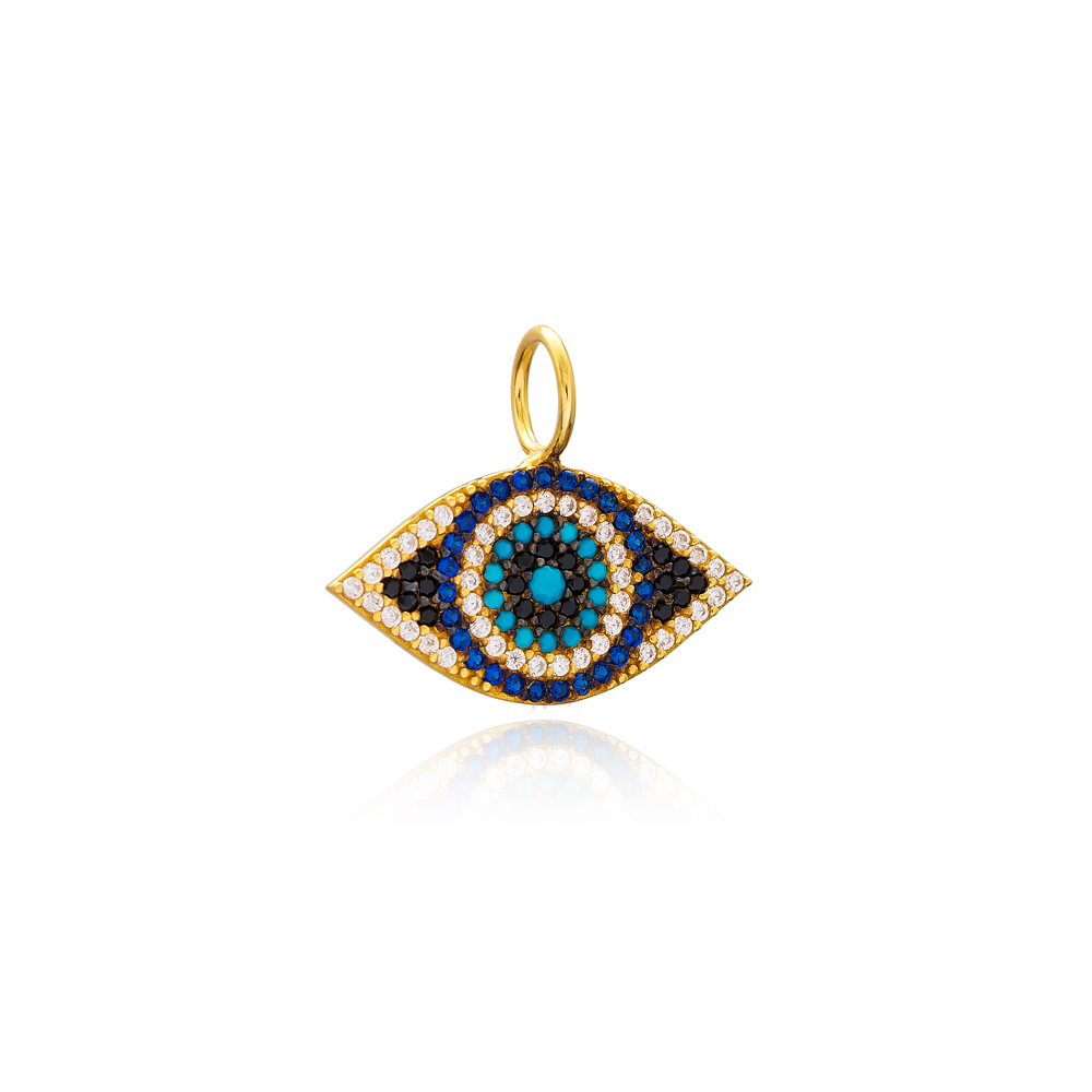 Evil Eye Charm Wholesale Handmade Turkish 925 Silver Sterling Jewelry