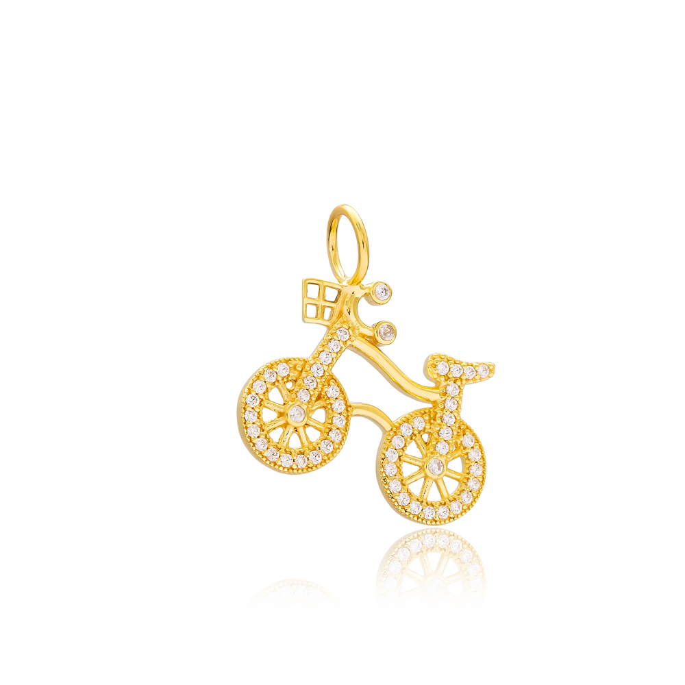 Bicycle Charm Wholesale Handmade Turkish 925 Silver Sterling Jewelry