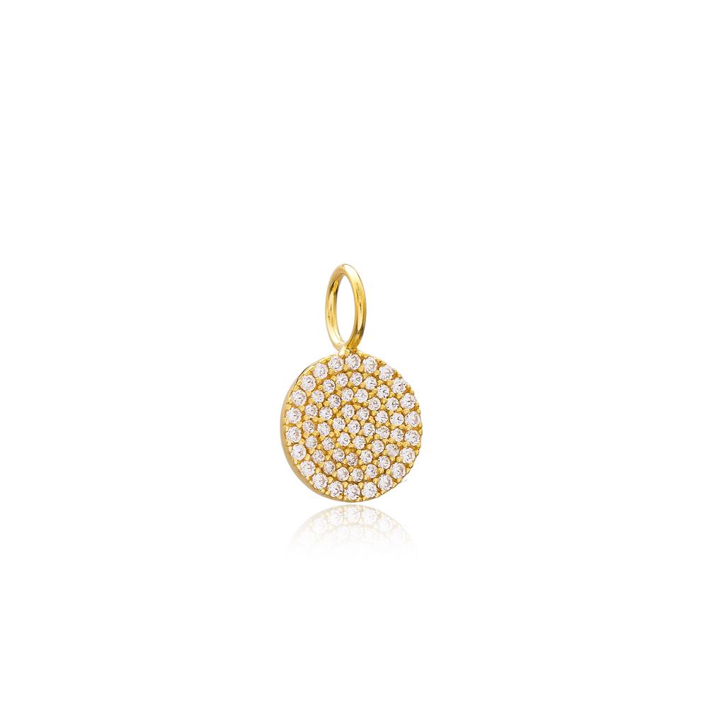 Round Charm Wholesale Handmade Turkish 925 Silver Sterling Jewelry