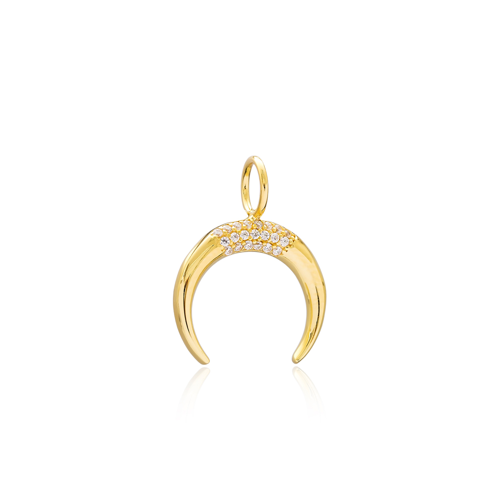 Horn Charm Wholesale Handmade Turkish 925 Silver Sterling Jewelry