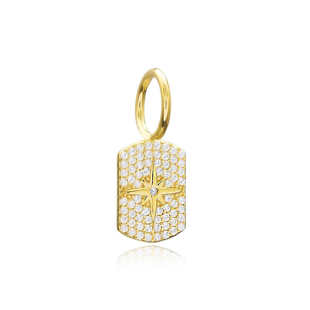 Dainty Design Zircon Charm Turkish Handmade 925 Sterling Silver Jewelry