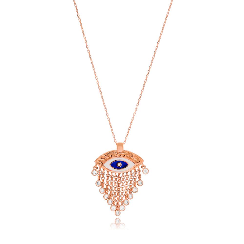 Evil Eye Tassel Pendant Wholesale 925 Sterling Silver Jewelry