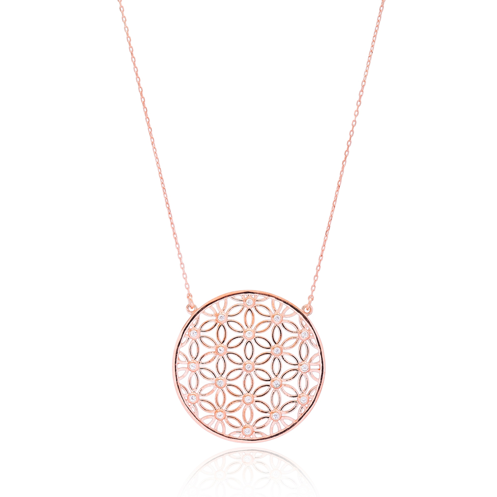 Flower Of Life Necklace Chain Pendant Turkish Wholesale 925 Sterling Silver Handmade Jewelry