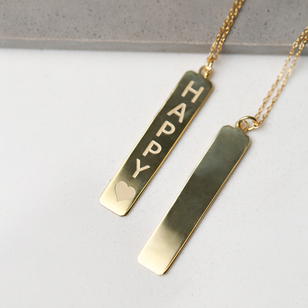 Happy Letter Necklace Wholesale Handmade 925 Silver Sterling Jewelry
