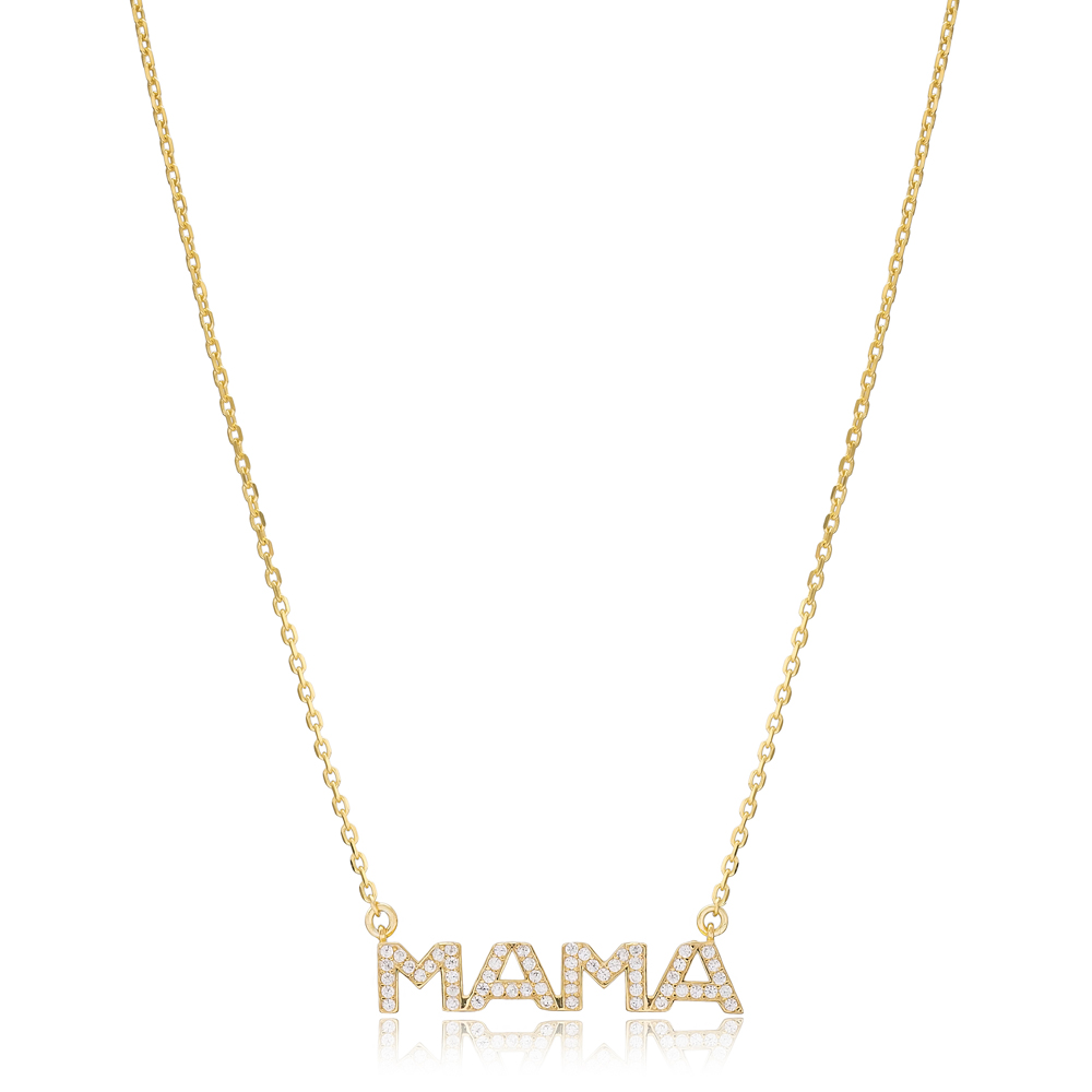 Mama Design Turkish Wholesale Handmade 925 Silver Sterling Necklace