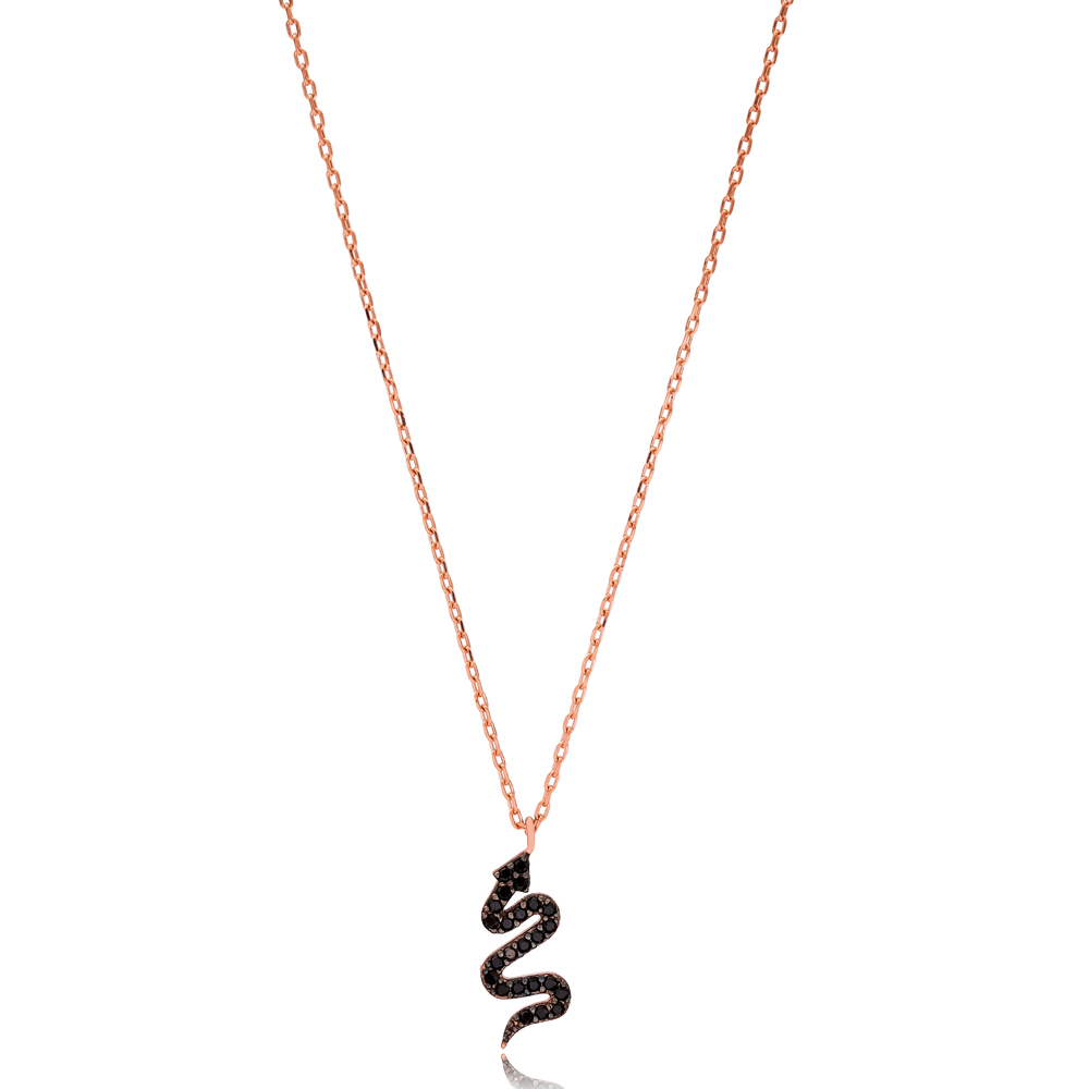 Fashionable Snake Design Necklace Turkish Wholesale 925 Sterling Silver Jewelry