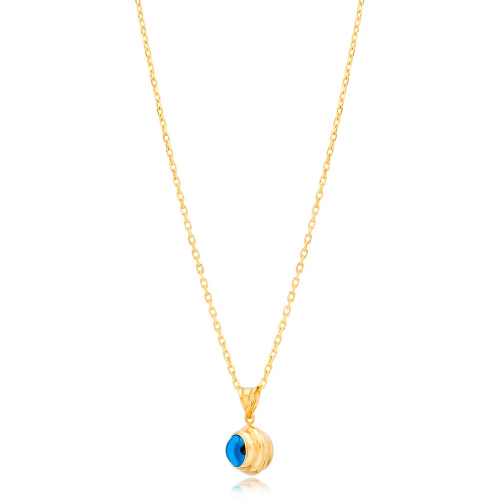 Elegant Evil Eye Charm Necklace Wholesale Turkish 925 Sterling Silver Jewelry