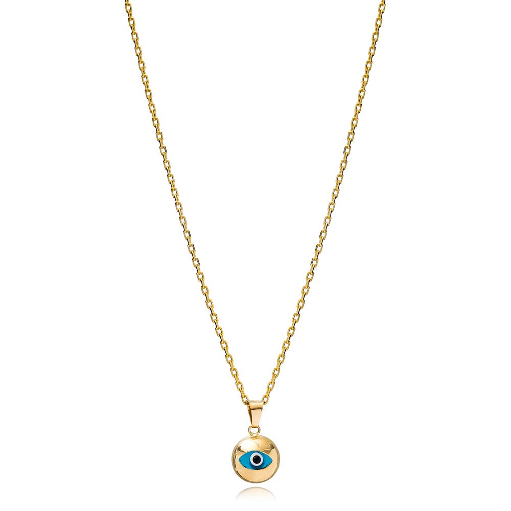 Elegant Design Evil Eye Charm Necklace Wholesale Turkish 925 Sterling Silver Jewelry