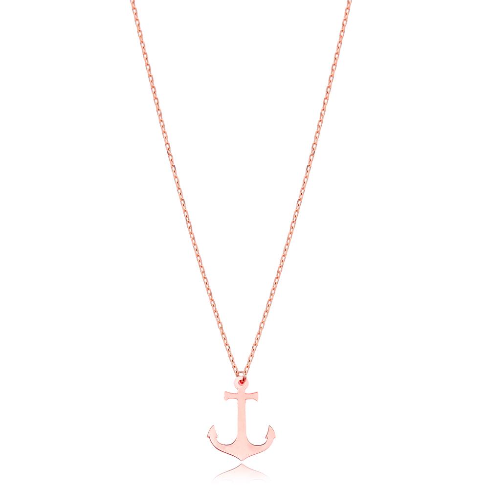 Silver Anchor Pendant Wholesale Handmade Turkish Jewelry