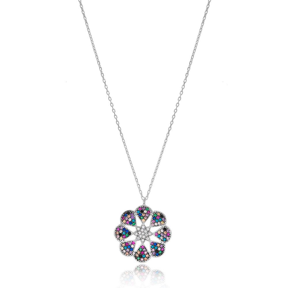Elegant Design Colorful Pendant Wholesale Handmade 925 Silver Sterling Jewelry