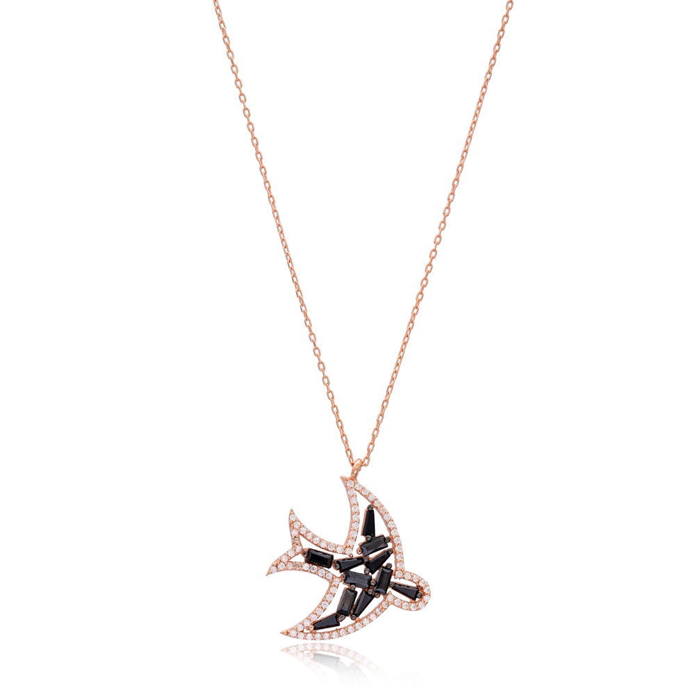 New Design Bird Charm Necklace Wholesale Handmade 925 Silver Sterling Jewelry
