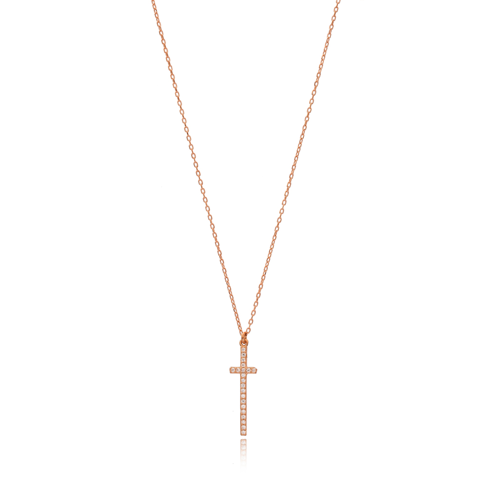 Cross Design Necklace Wholesale Handmade 925 Silver Sterling Jewelry