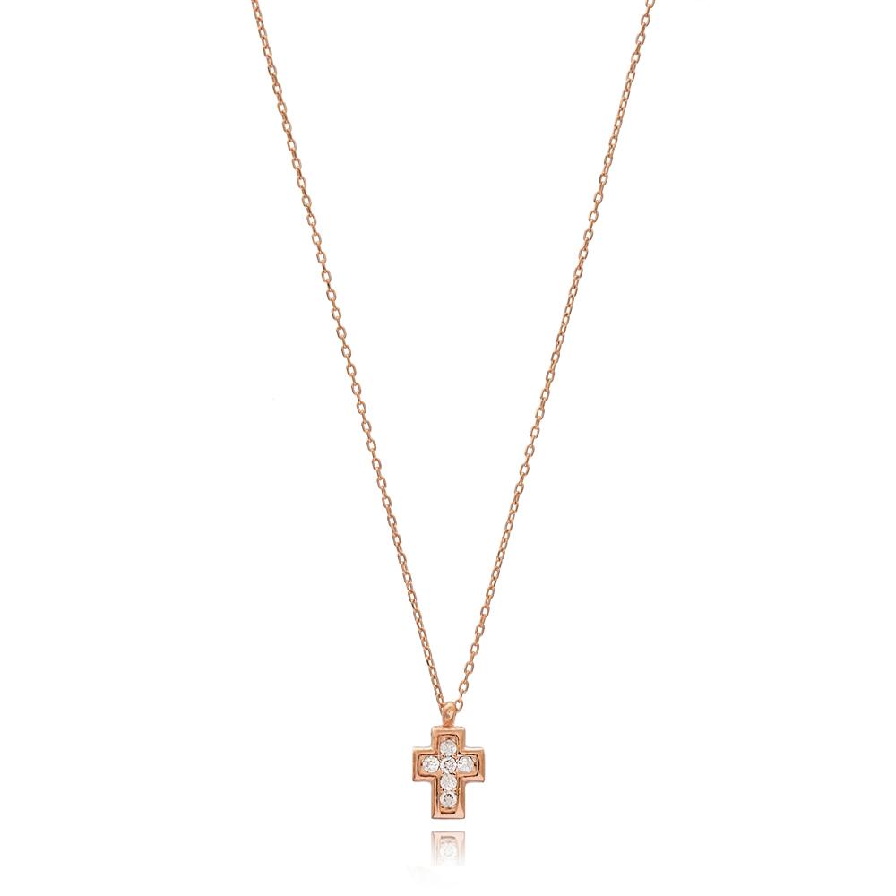 Cross Design Minimalist Pendant Wholesale Handmade 925 Silver Sterling Necklace