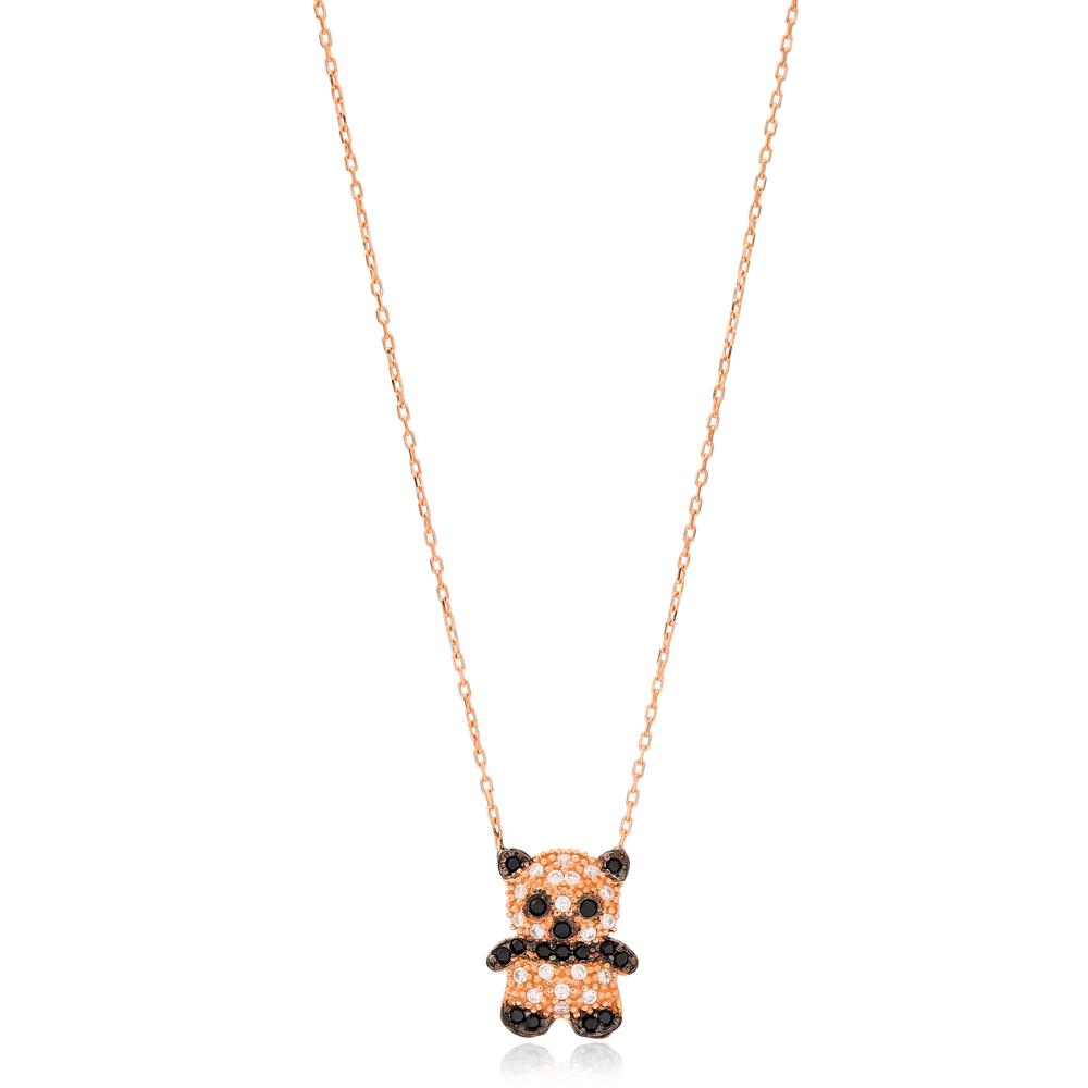 Minimalist Panda Shape Design Wholesale Handmade 925 Silver Sterling Necklace