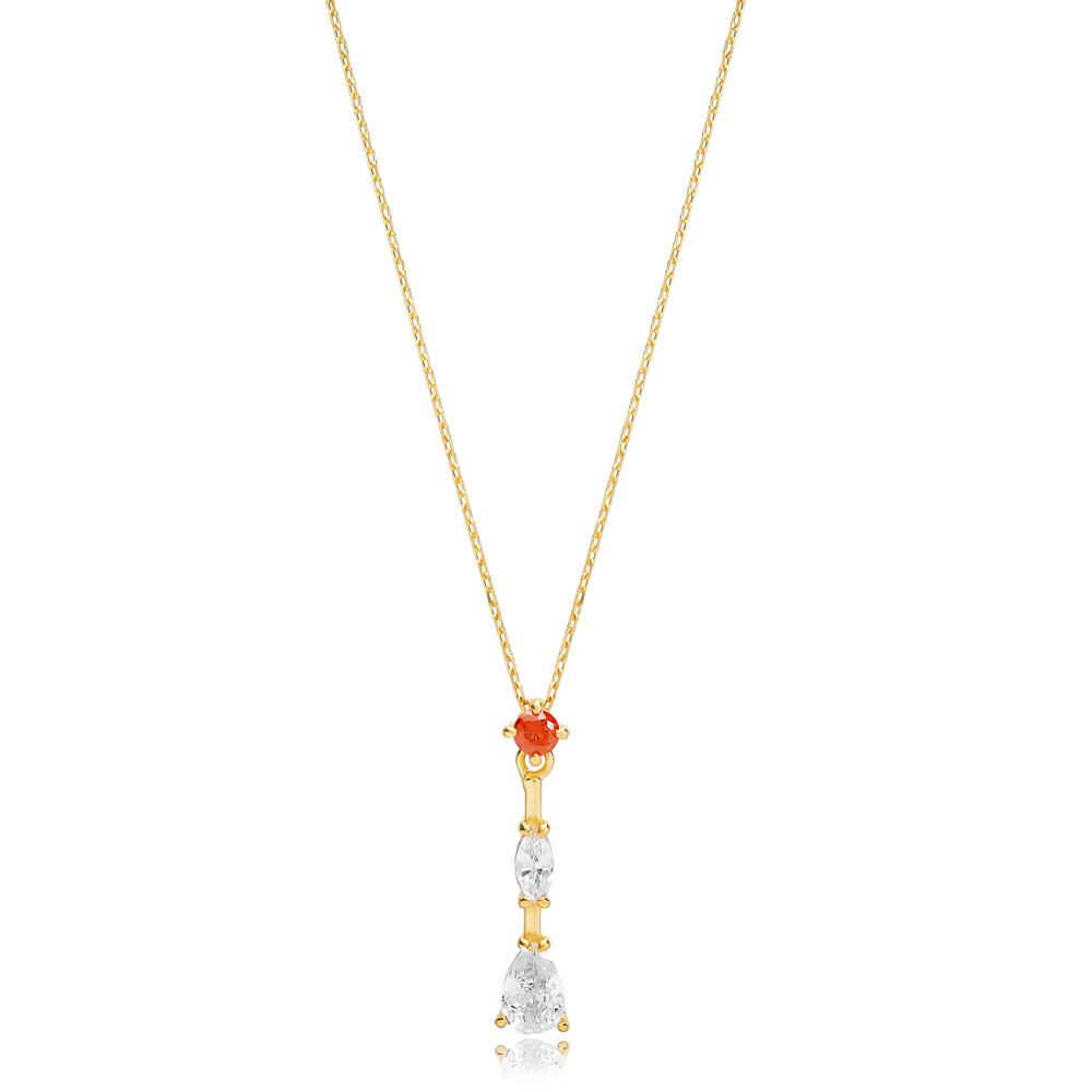 Delicate Modern Pendant Turkish Handmade 925 Sterling Silver Jewelry