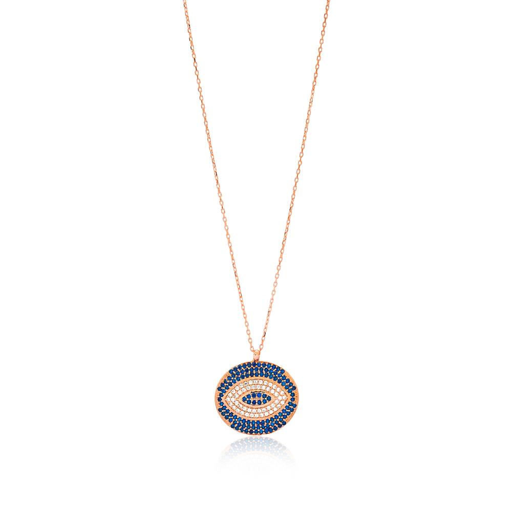 Evil Eye Design Pendant Wholesale Sterling Silver Jewelry