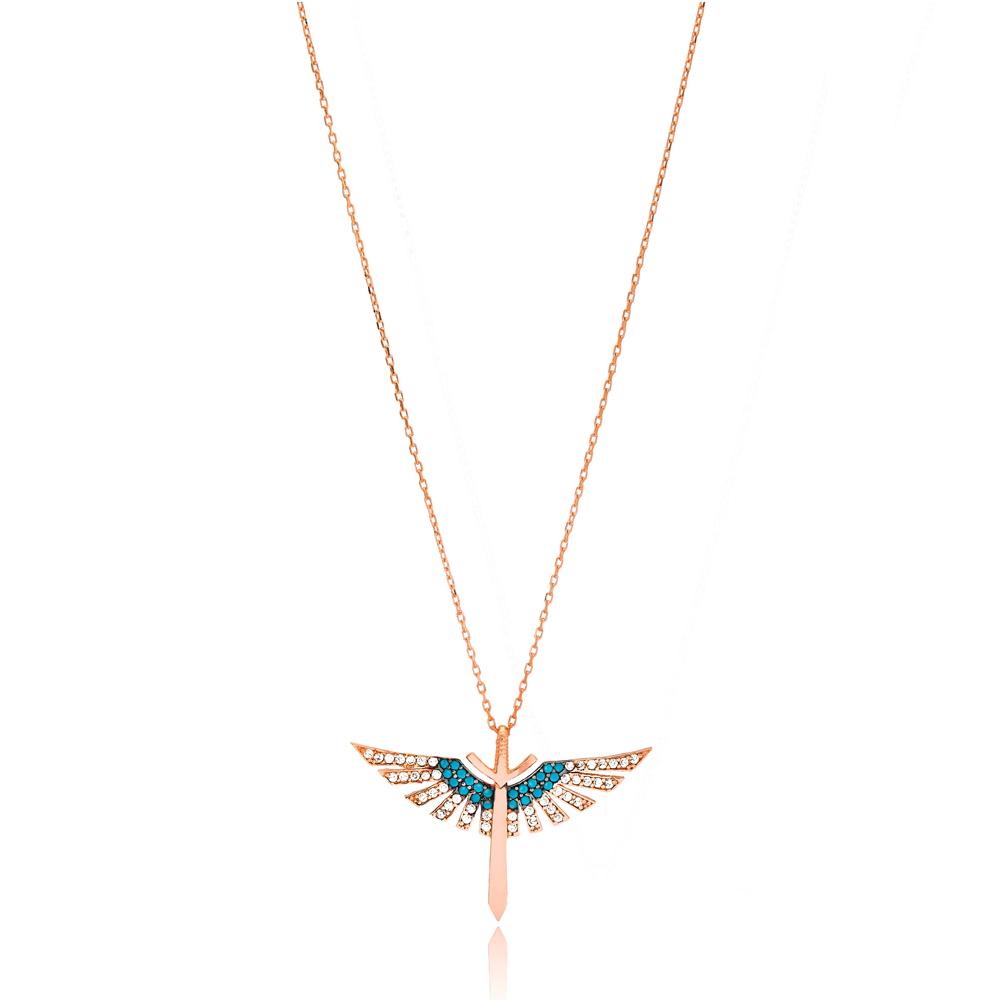 Fashion Wings Design Pendant Wholesale 925 Sterling Silver Jewelry