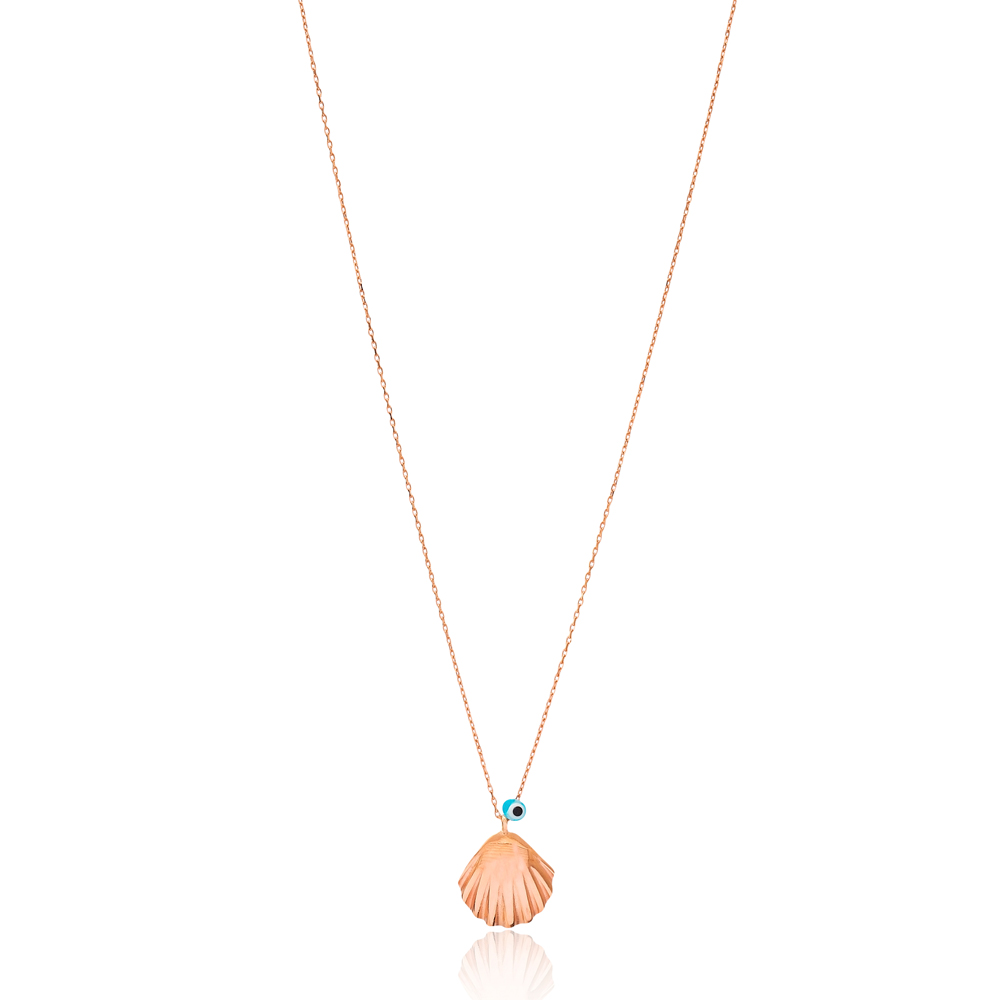 Evil Eye Seashell Design Pendant Wholesale 925 Sterling Silver Jewelry