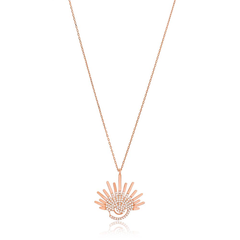Seashell Design Pendant Turkish Wholesale Handmade 925 Sterling Silver Jewelry