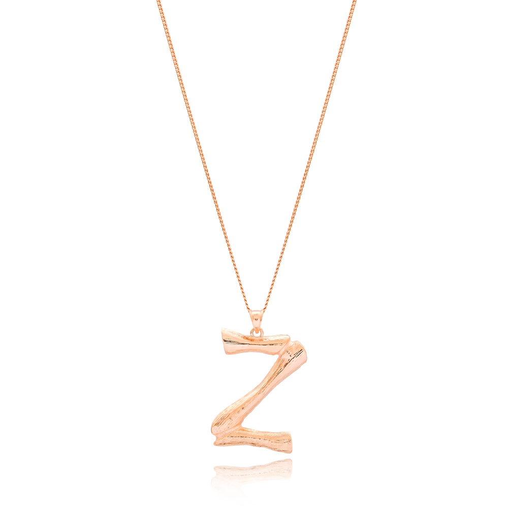 Alphabet Z Letter Design Pendant Turkish Wholesale Handmade 925 Sterling Silver Jewelry