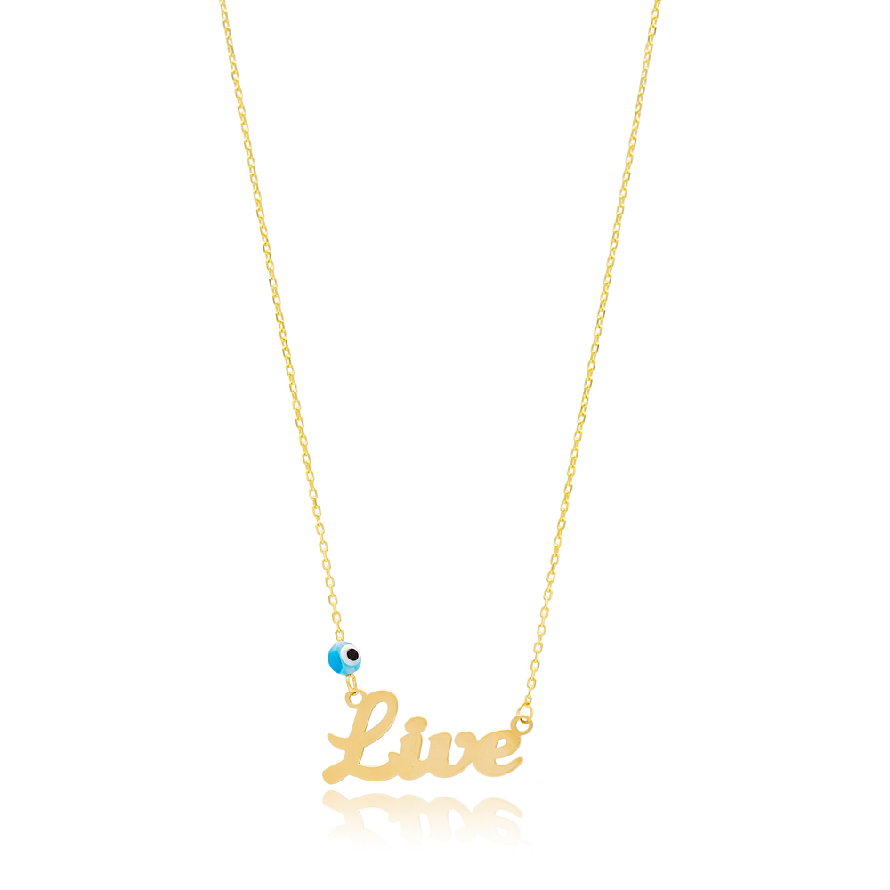 Live Design Evil Eye Turkish Wholesale Handcrafted 925 Silver Necklace