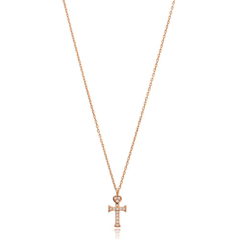 Cross Charm Wholesale Handmade Turkish 925 Silver Sterling Necklace