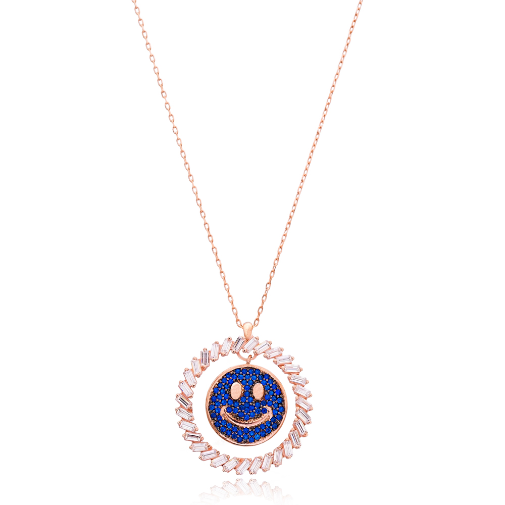 Smiley Face Silver Pendant Wholesale Sterling Silver Jewelry