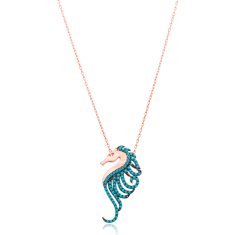 Seahorse Silver Necklace Wholesale Sterling Silver Turkish Jewelry