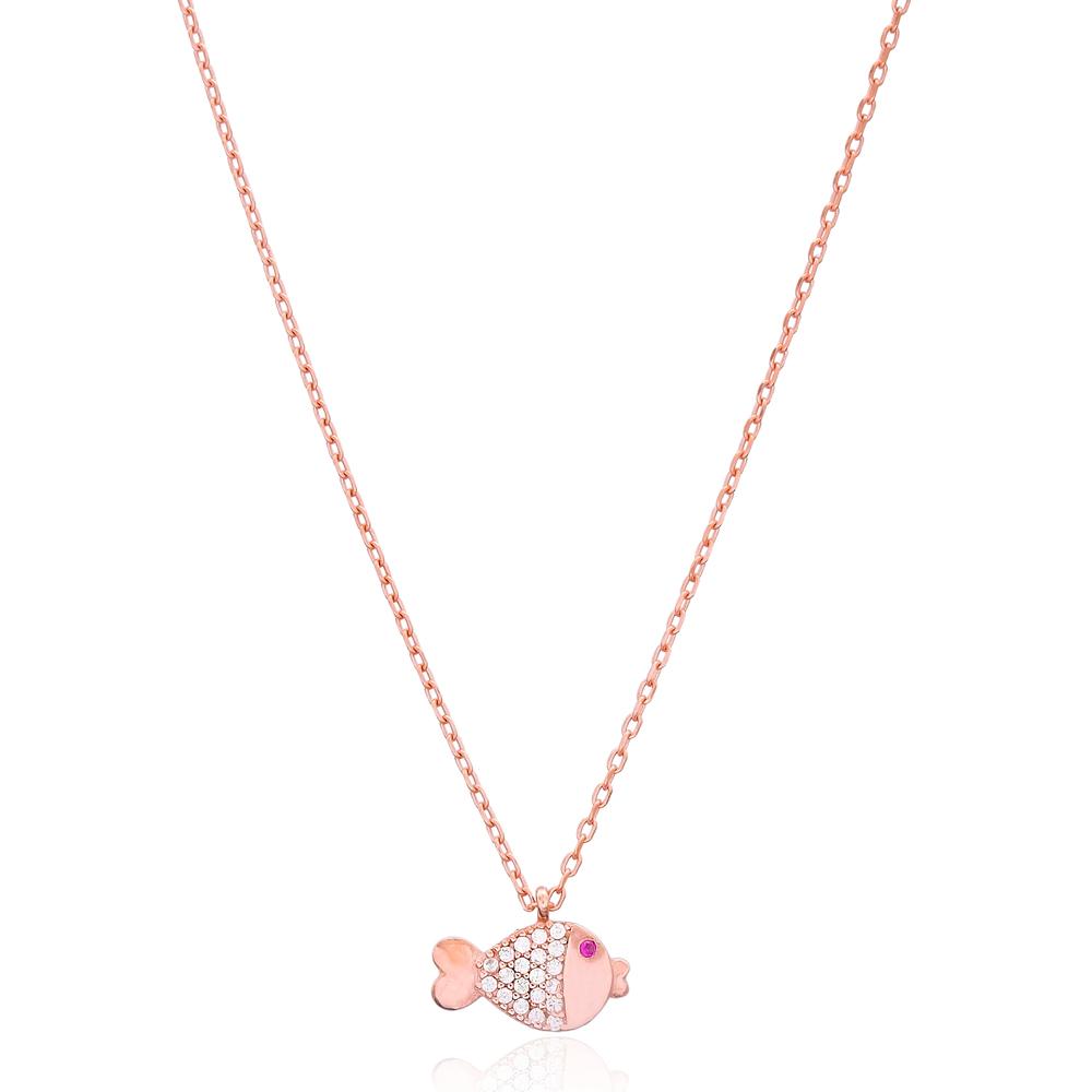 Fish Design Pendant, Wholesale 925 Sterling Silver Jewelry