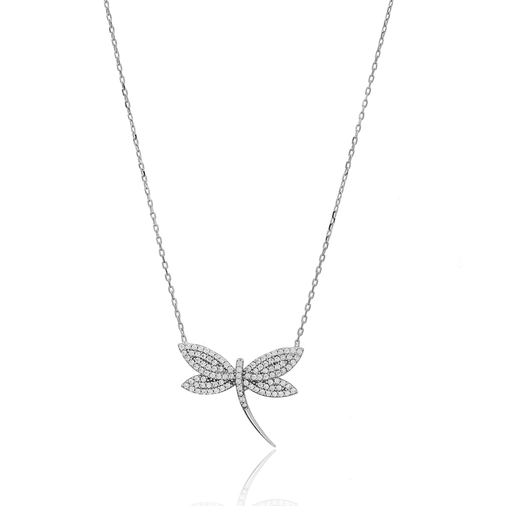 Delicate Dragonfly Charm Silver Pendant Wholesale 925 Sterling Silver Jewelry