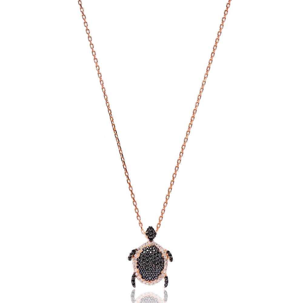 Minimalist Turkish Wholesale Silver Turtle Pendant