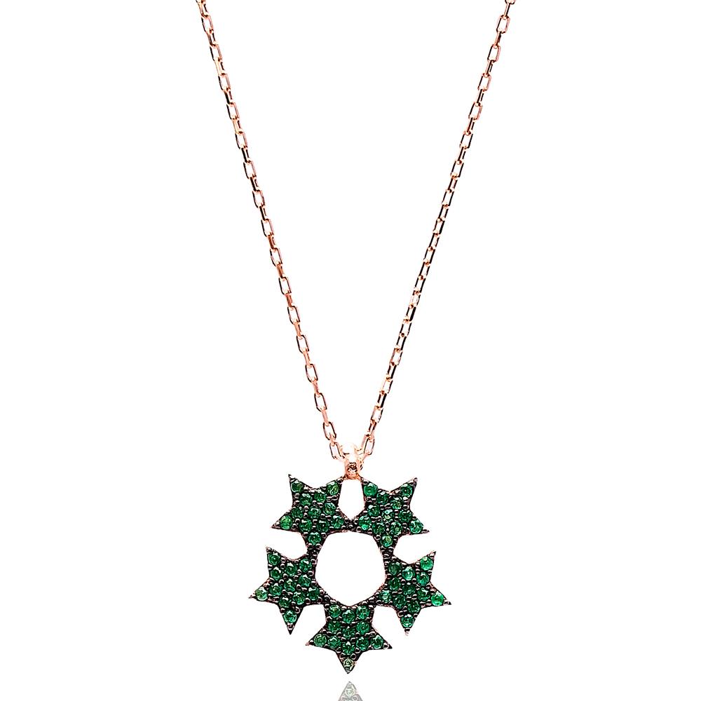 Five Star Pendant Turkish Wholesale Handmade 925 Sterling Silver