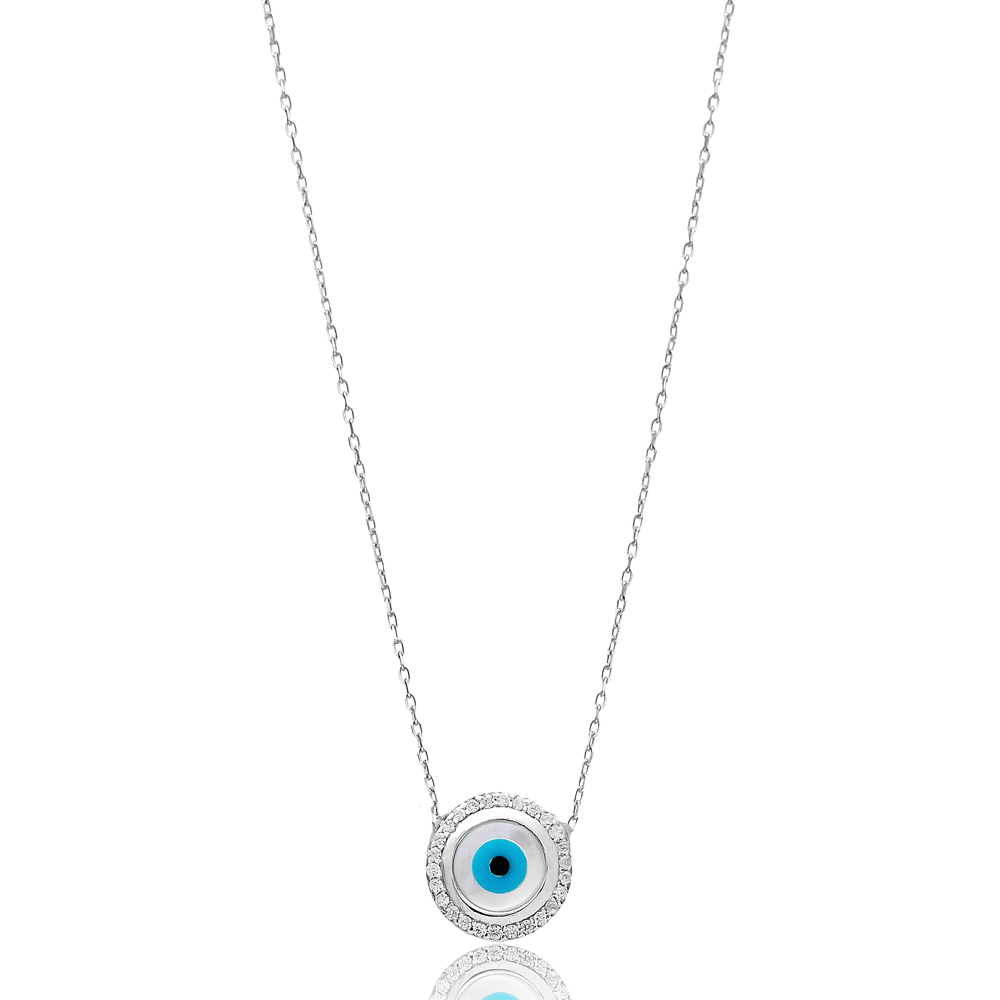 Turkish Wholesale Handcrafted Silver Evil Eye Pendant