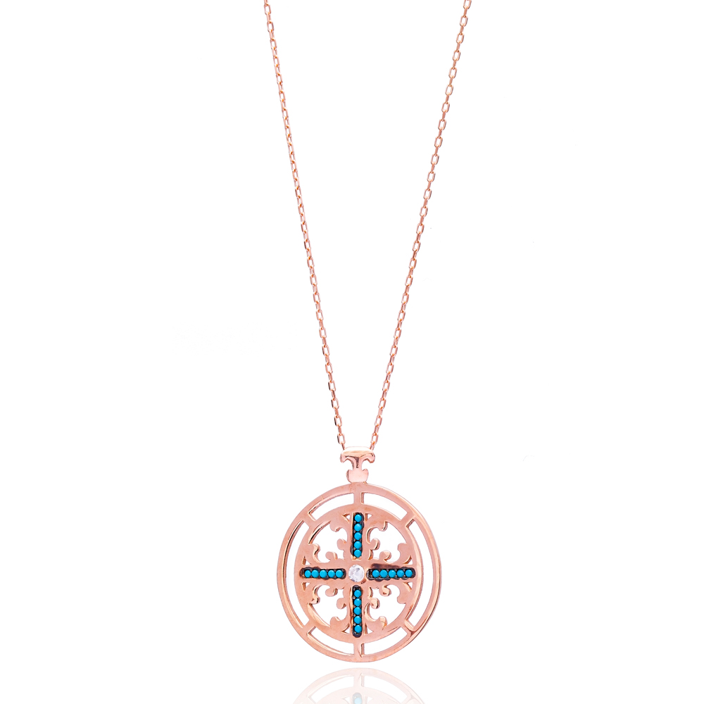 Silver Cross Pendant Turkish Wholesale 925 Sterling Silver