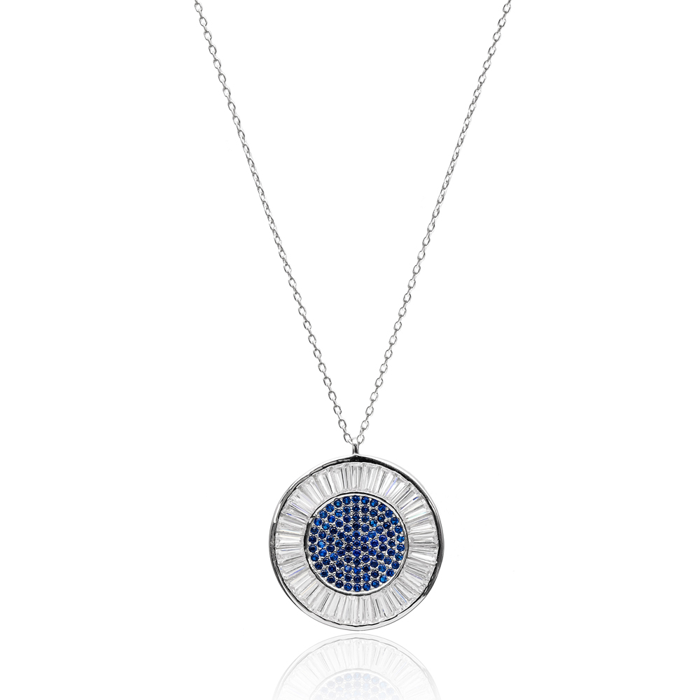 Minimalist Design Round Pendant In Turkish Wholesale 925 Sterling Silver