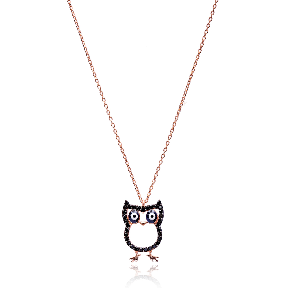 Owl Design Pendant, Wholesale Handmade Turkish Sterling Silver Pendant