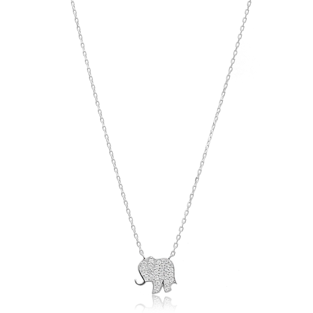 Minimalist Elephant Design Pendant, Wholesale Handmade Turkish Sterling Silver Pendant