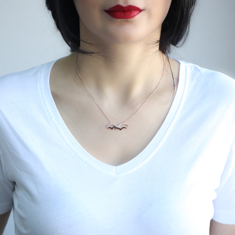 Seagull Minimal Design Pendant In Turkish Wholesale 925 Sterling Silver
