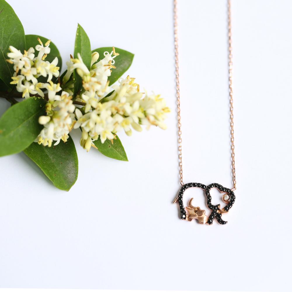 Minimalist Elephant Design Pendant Turkish Wholesale Sterling Silver Jewelry Pendant