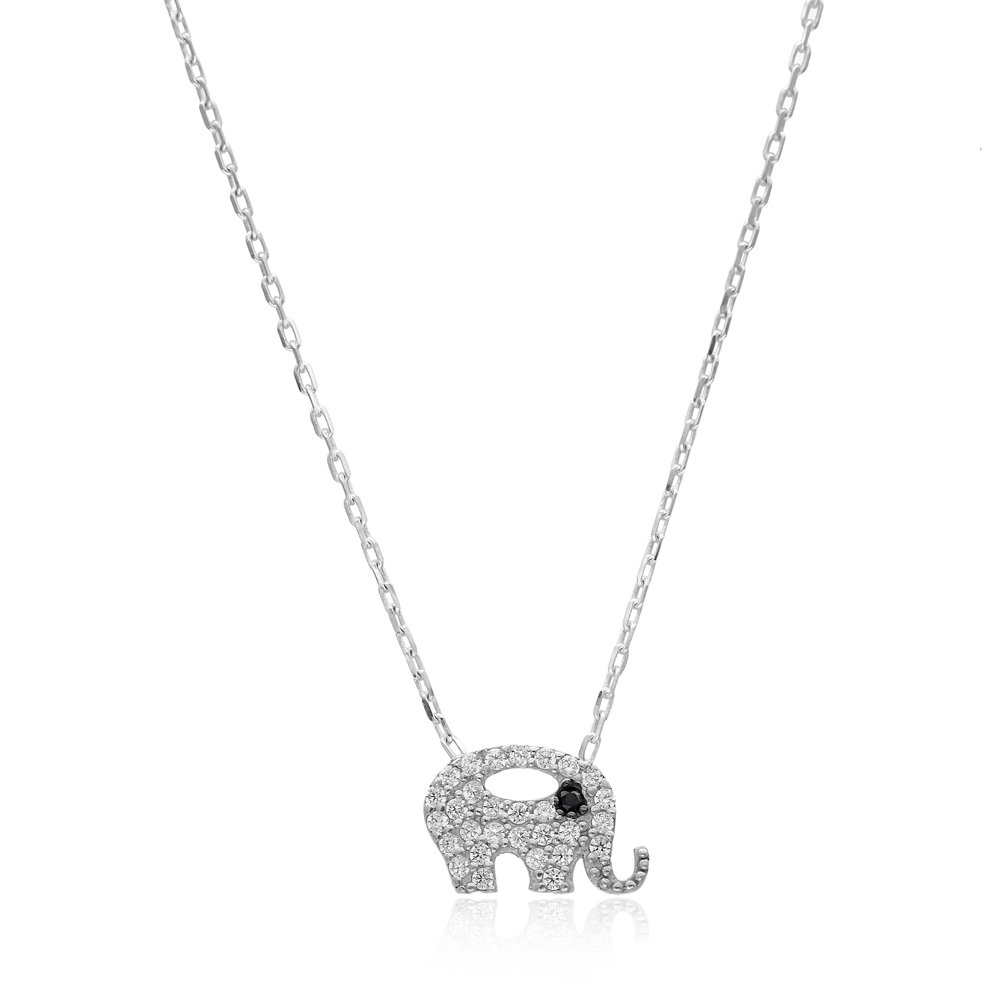 Minimalist Elephant  Design Pendant Turkish Wholesale Sterling Silver Jewelry Pendant