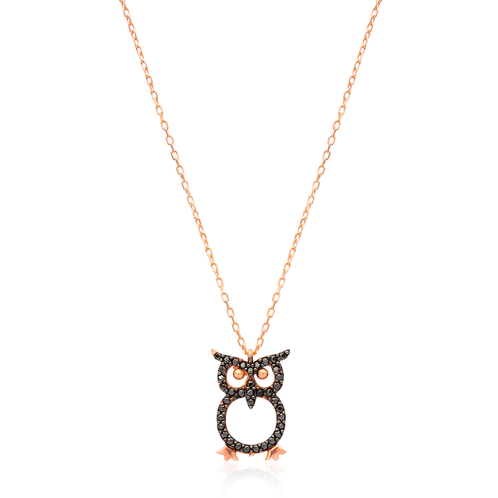 Minimalist Owl Design Pendant Turkish Wholesale Sterling Silver Jewelry Pendant