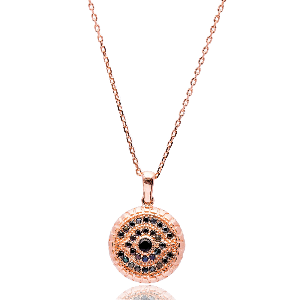 Turkish Wholesale Handmade 925k Sterling Circle Simple Pendant