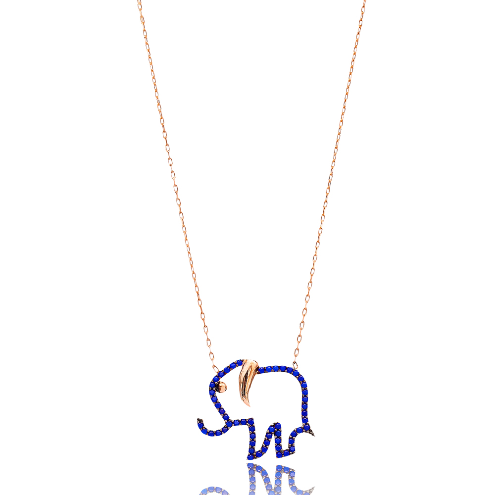 Lapis Elephant Silver Pendant Turkish Wholesale Sterling Silver Jewelry