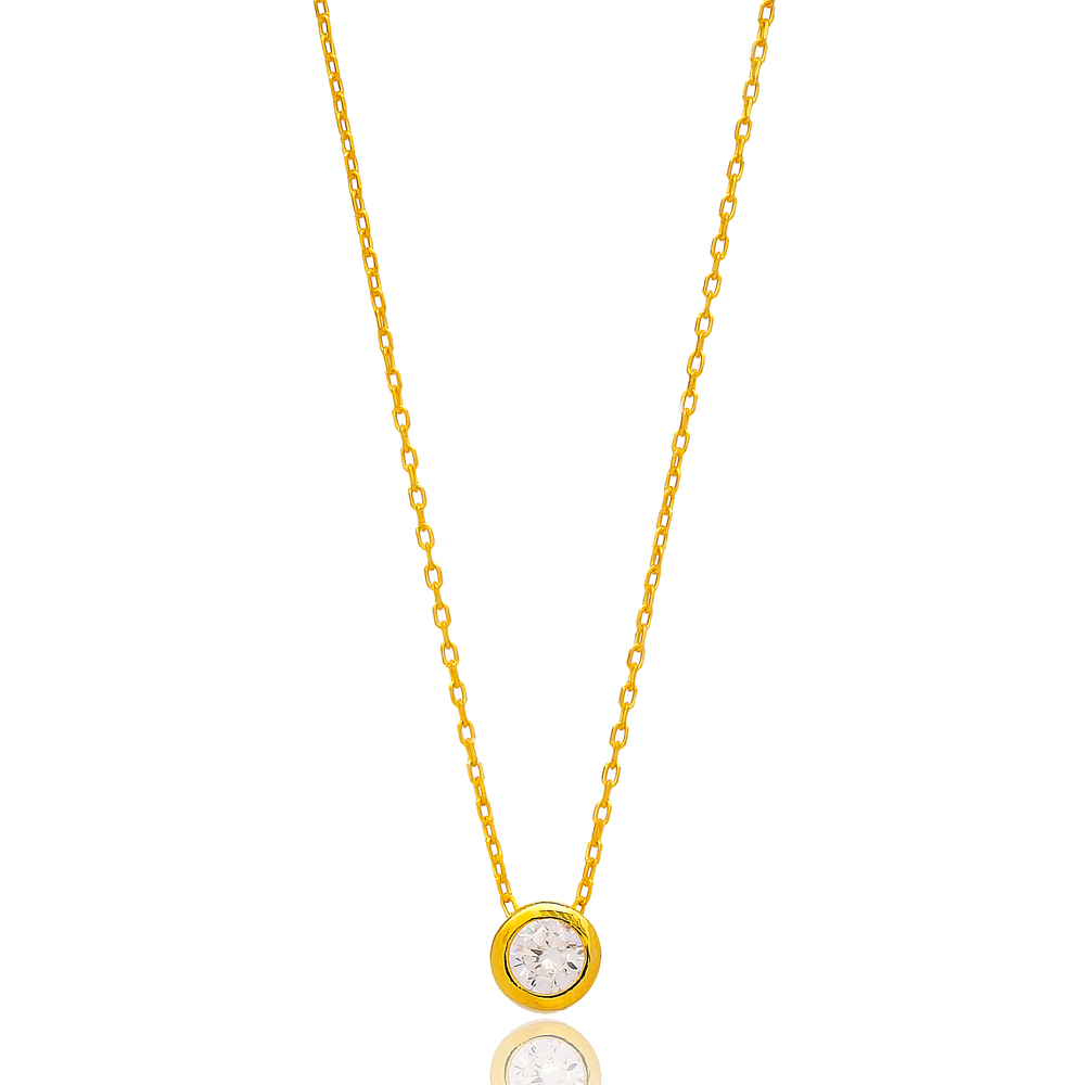 Round Delicate Pendant In Turkish Wholesale 925 Sterling Silver