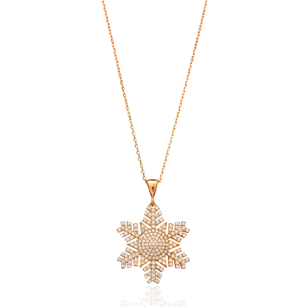 Silver Snowflake Pendant In Turkish Wholesale 925 Sterling Silver