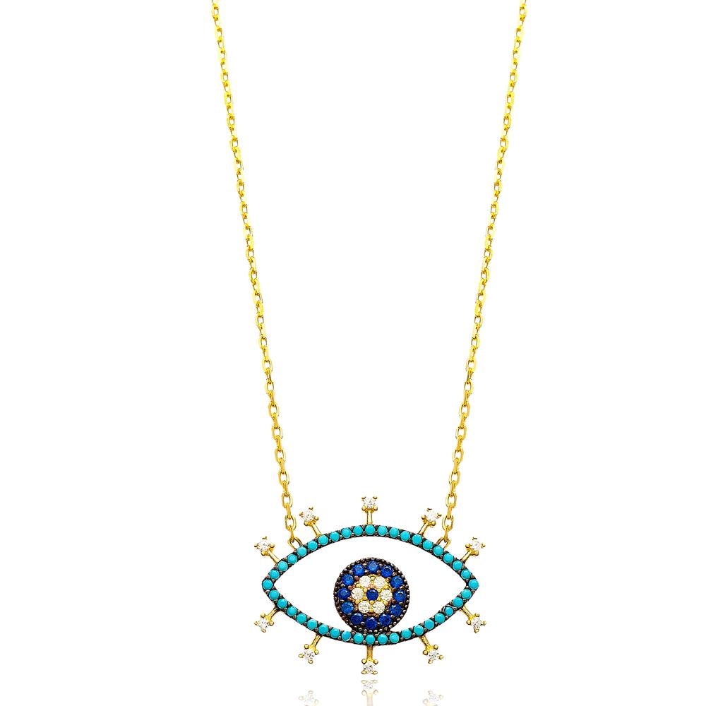 Silver Eye Pendant In Turkish Wholesale 925 Sterling Silver