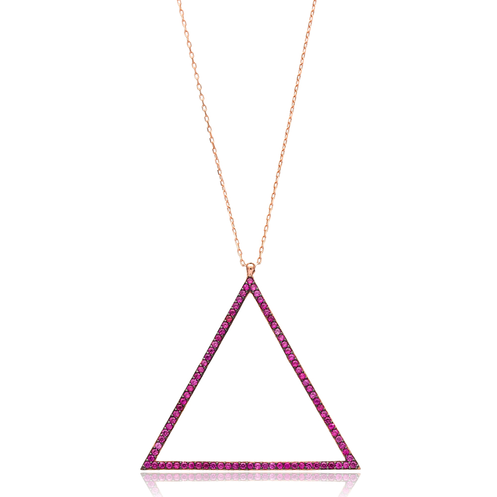 Open Triangle Pendant In Turkish Wholesale 925 Sterling Silver