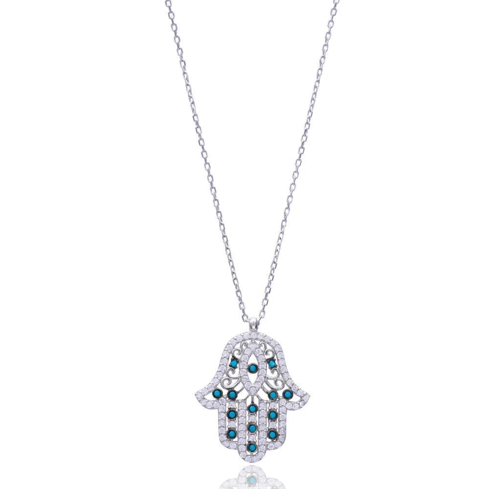 Hamsa Pendant In Turkish Wholesale 925 Sterling Silver