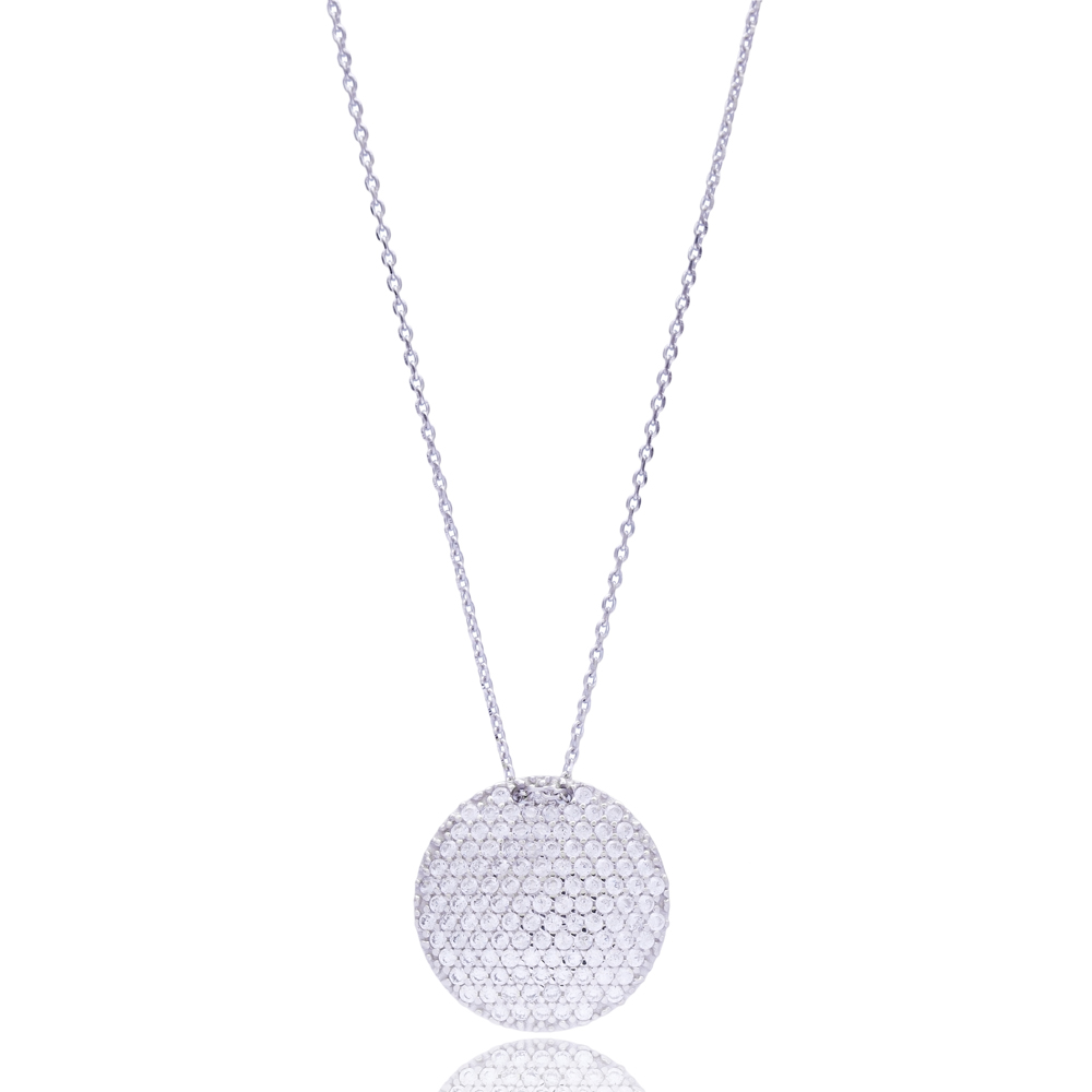 Circle Pendant In Turkish Wholesale 925 Sterling Silver