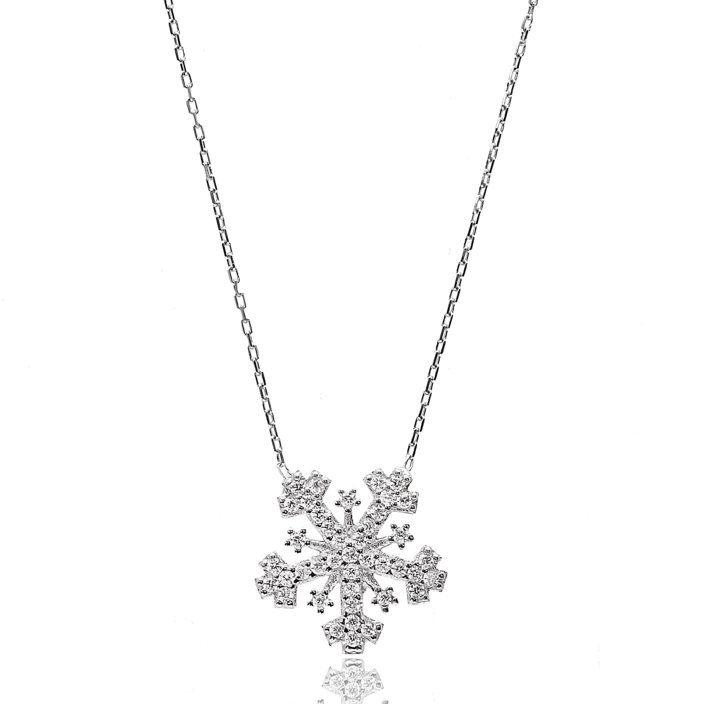 Turkish Wholesale Handcrafted  925 Sterling Silver  Snowflake Pendant